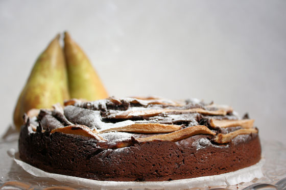 Pear-and-Chocolate Cake