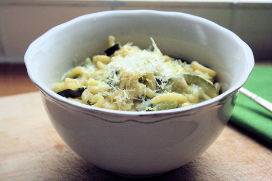 Pasta-with-Courgettes-and-Lemon-Zest