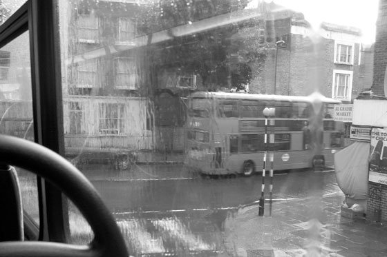 Rainy London from the Bus